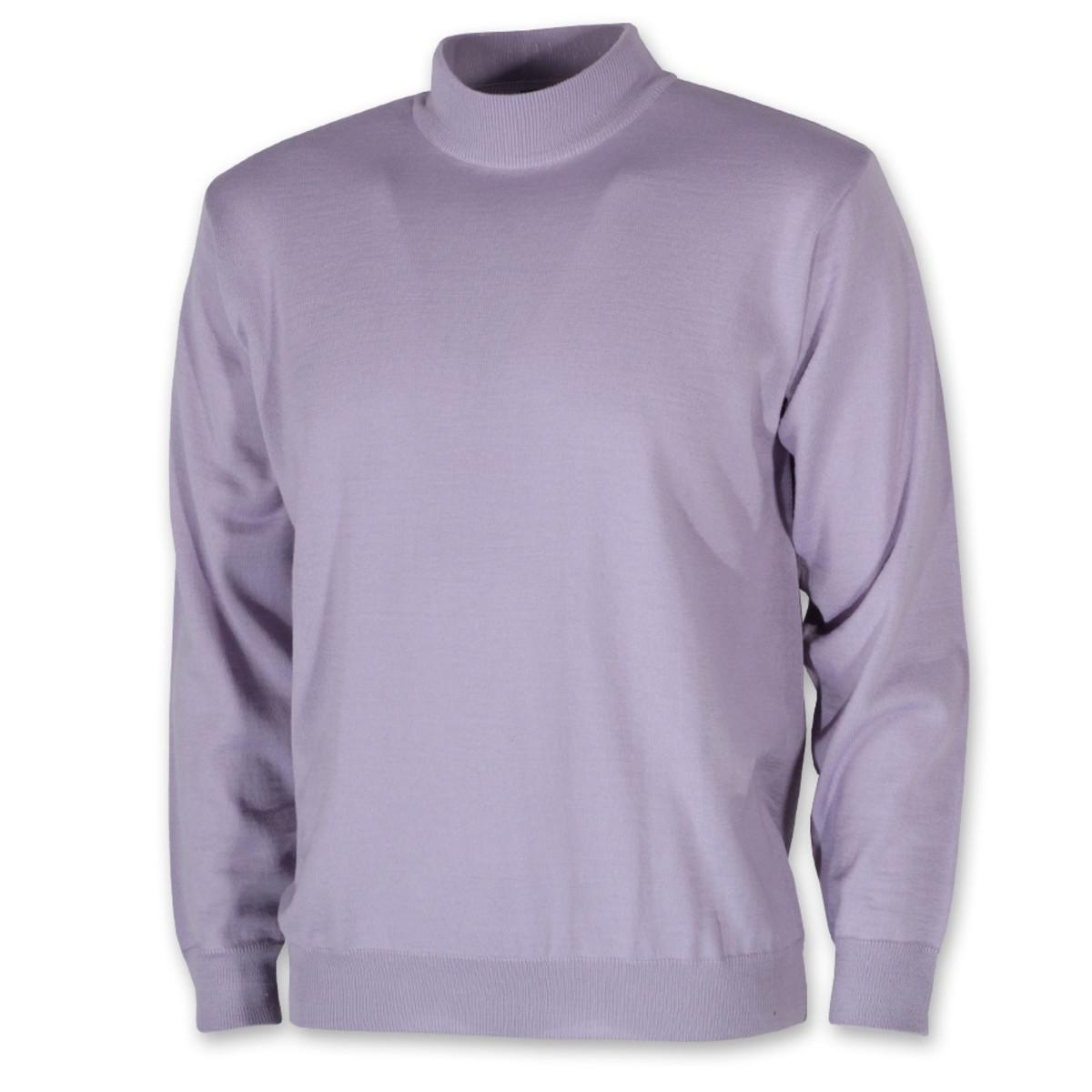 Pánsky sveter s rolákom fialový 10272 L