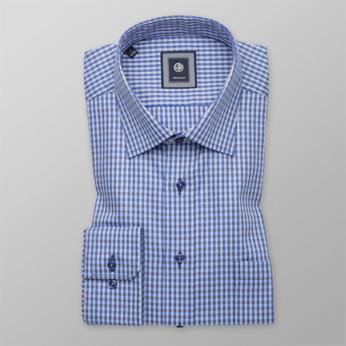 Košeľa kockovaná Slim Fit (výška 176 - 182) 10289 176-182 / L (41/42)