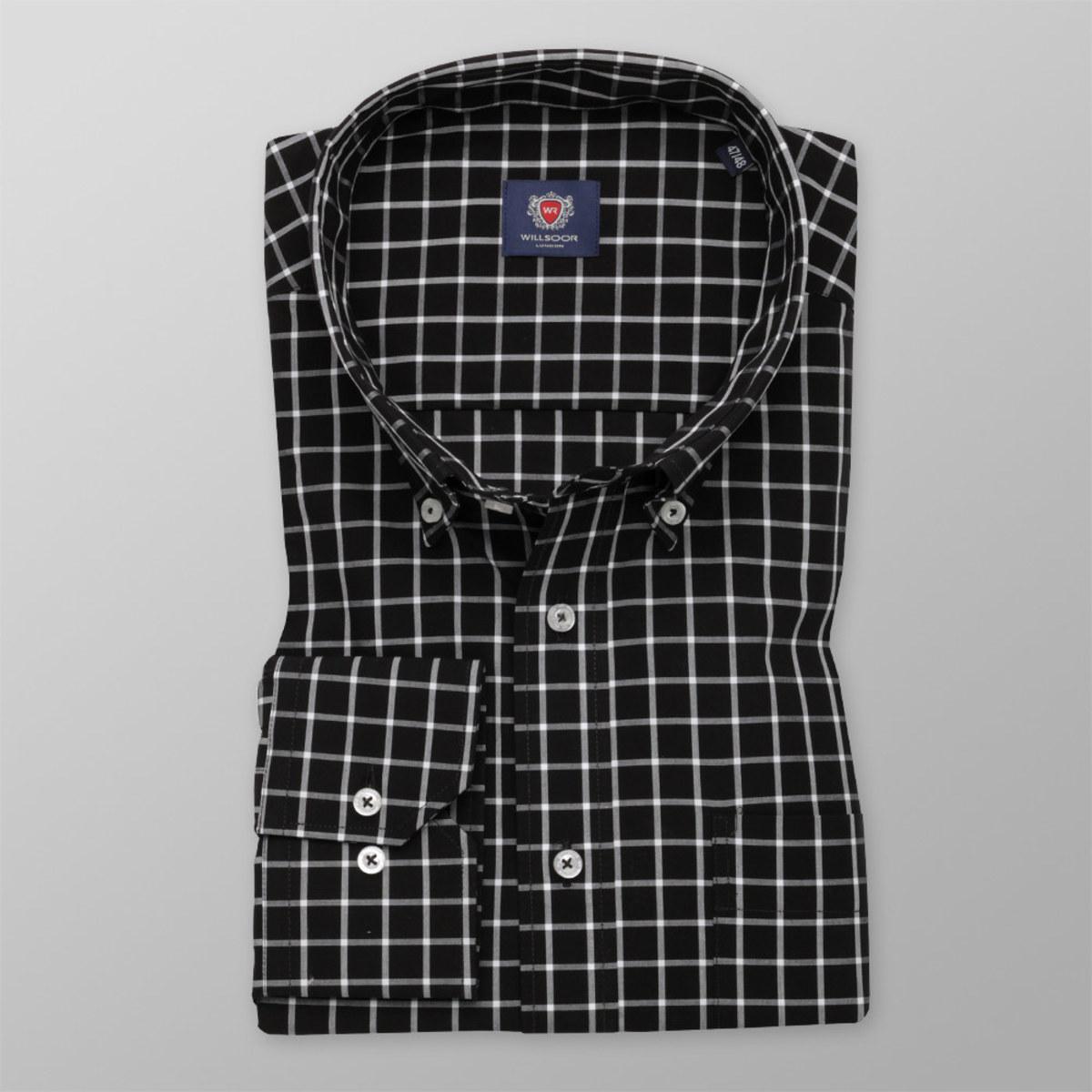 Košeľa London károvaný vzor (výška 188 - 194) 10362 188-194 / 51/52