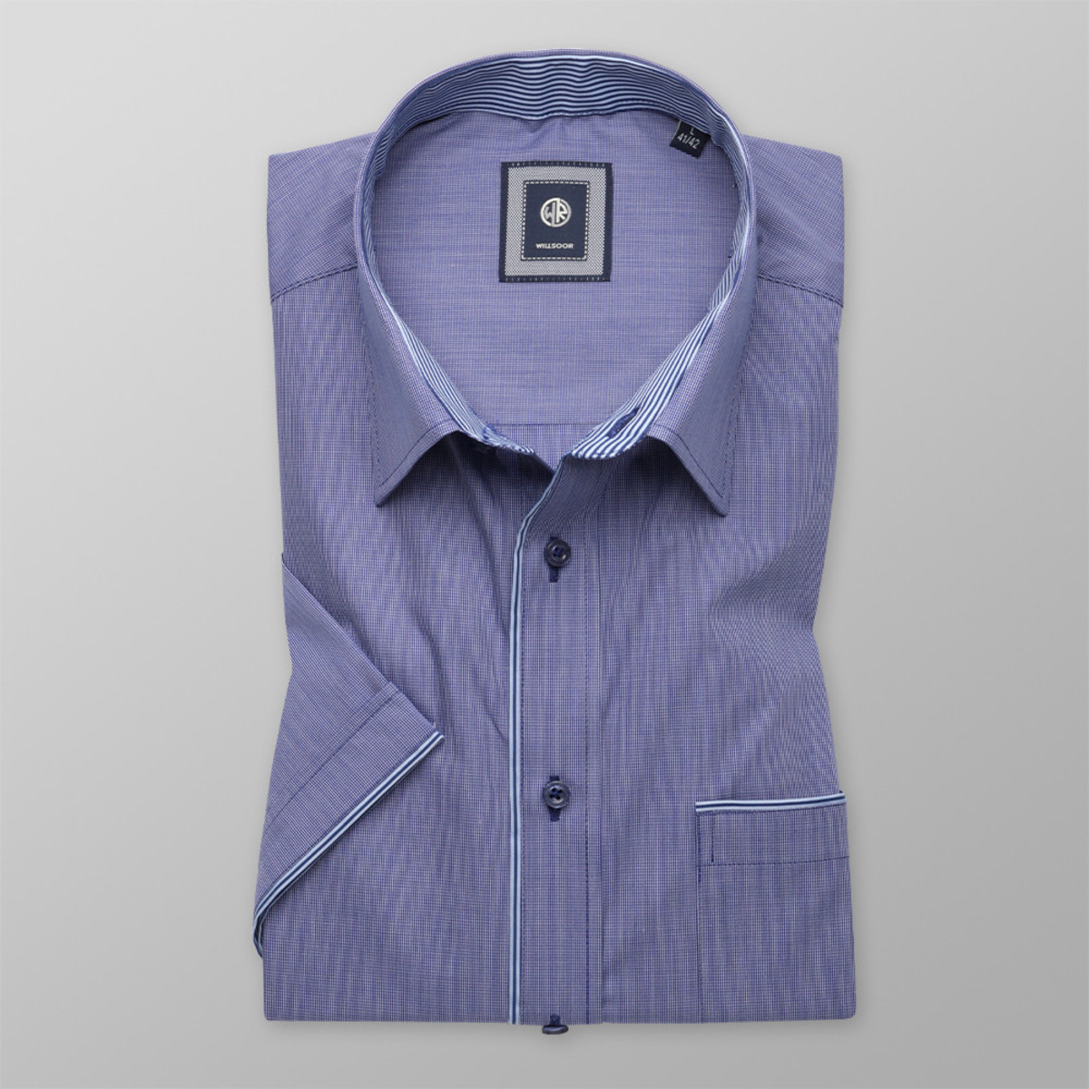 Košeľa Slim Fit tmavo modrej farby (výška 176 - 182) 10508 176-182 / M (39/40)