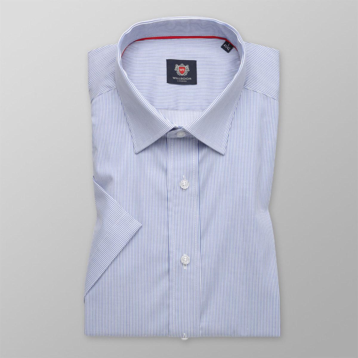 Košeľa London bledo modrý pruhovaný vzor (výška 176 - 182) 10524 176-182 / L (41/42)