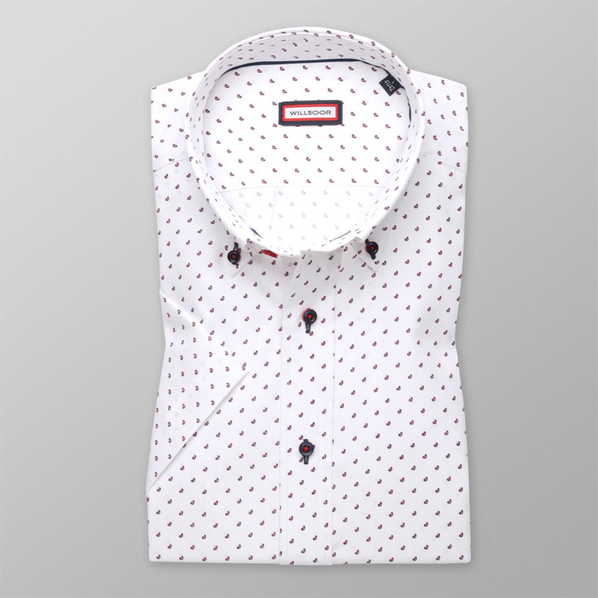 Košeľa Slim Fit s potlačou kvapiek (výška 176 - 182) 10589 176-182 / L (41/42)