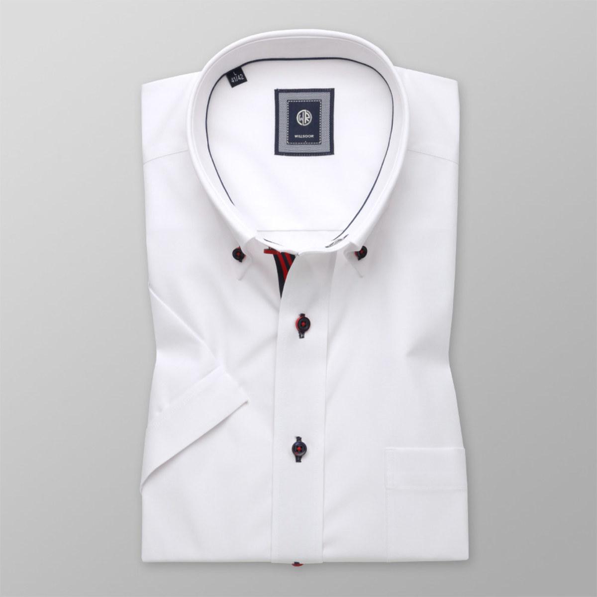 Košeľa klasická bielej farby (výška 176 - 182) 10758 176-182 / XL (43/44)