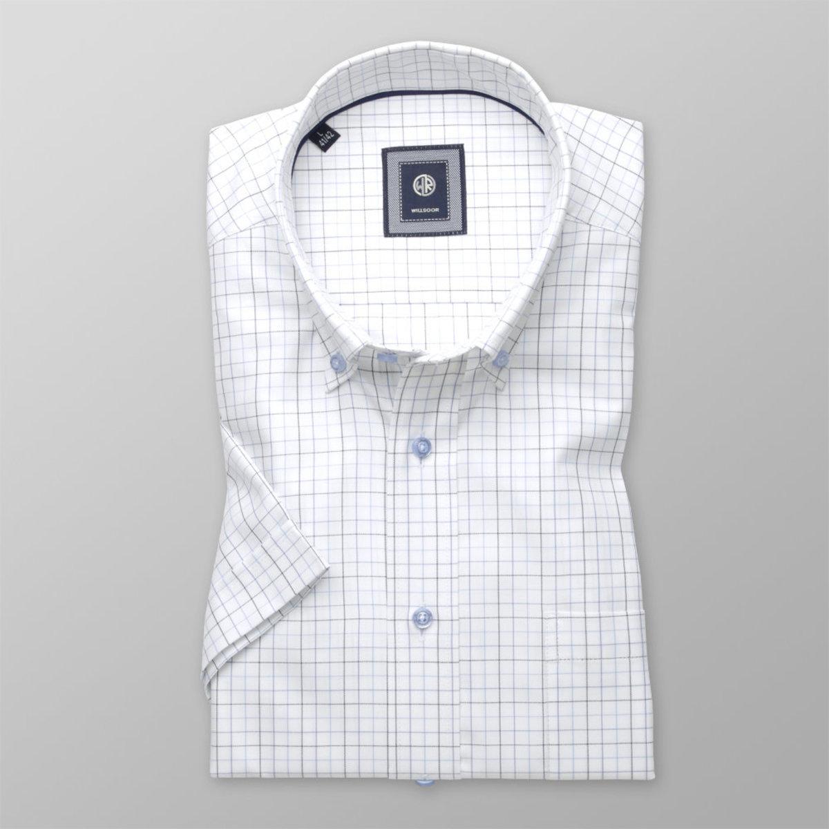Košeľa Slim Fit jemný károvaný vzor (výška 176 - 182) 10834 176-182 / L (41/42)