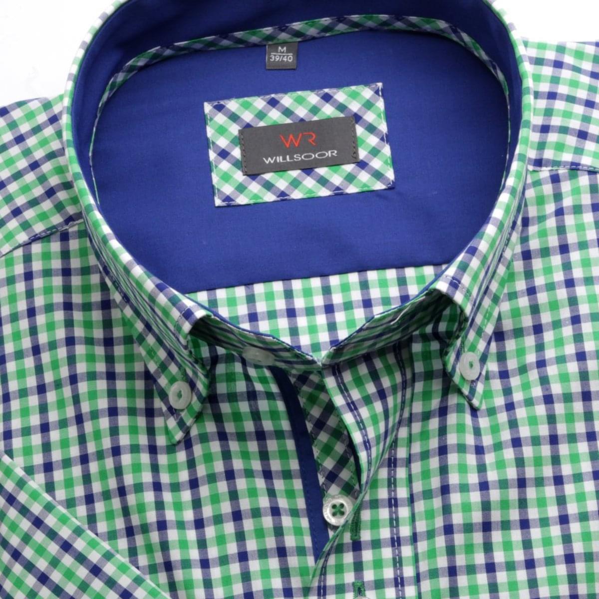 Pánska košele WR Classic s krátkym rukávom a farebnú kockou (výška 176-182) 4842 176-182 / XL (43/44)