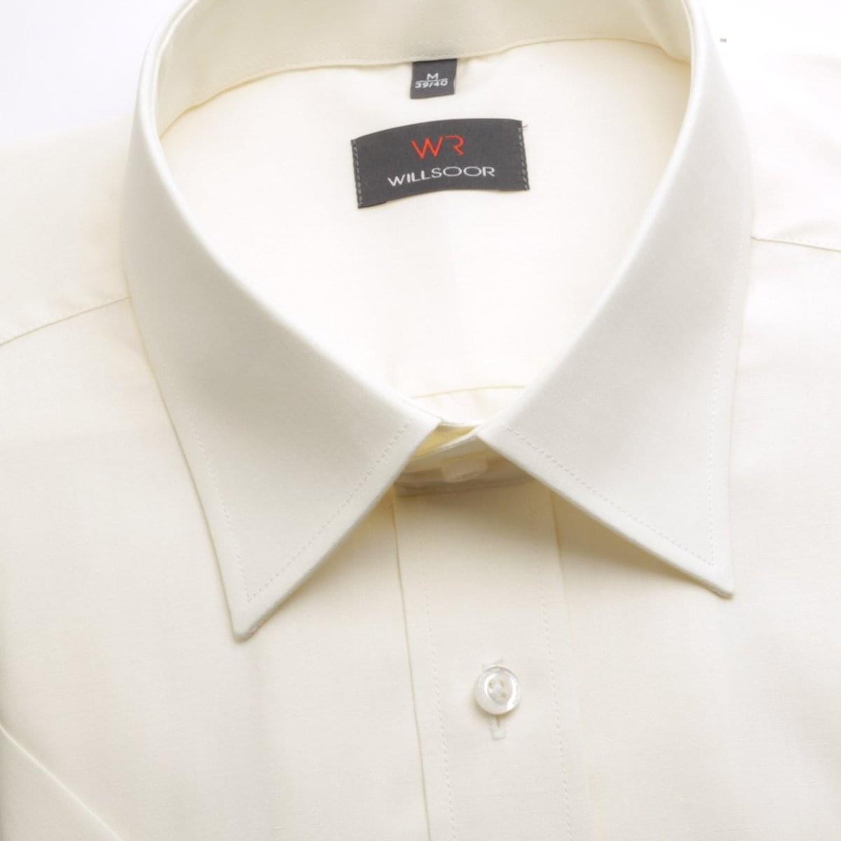 Pánska košele WR Slim Fit s krátkym rukávom v ecru farbe (výška 176-182) 4856 176-182 / S (37/38)
