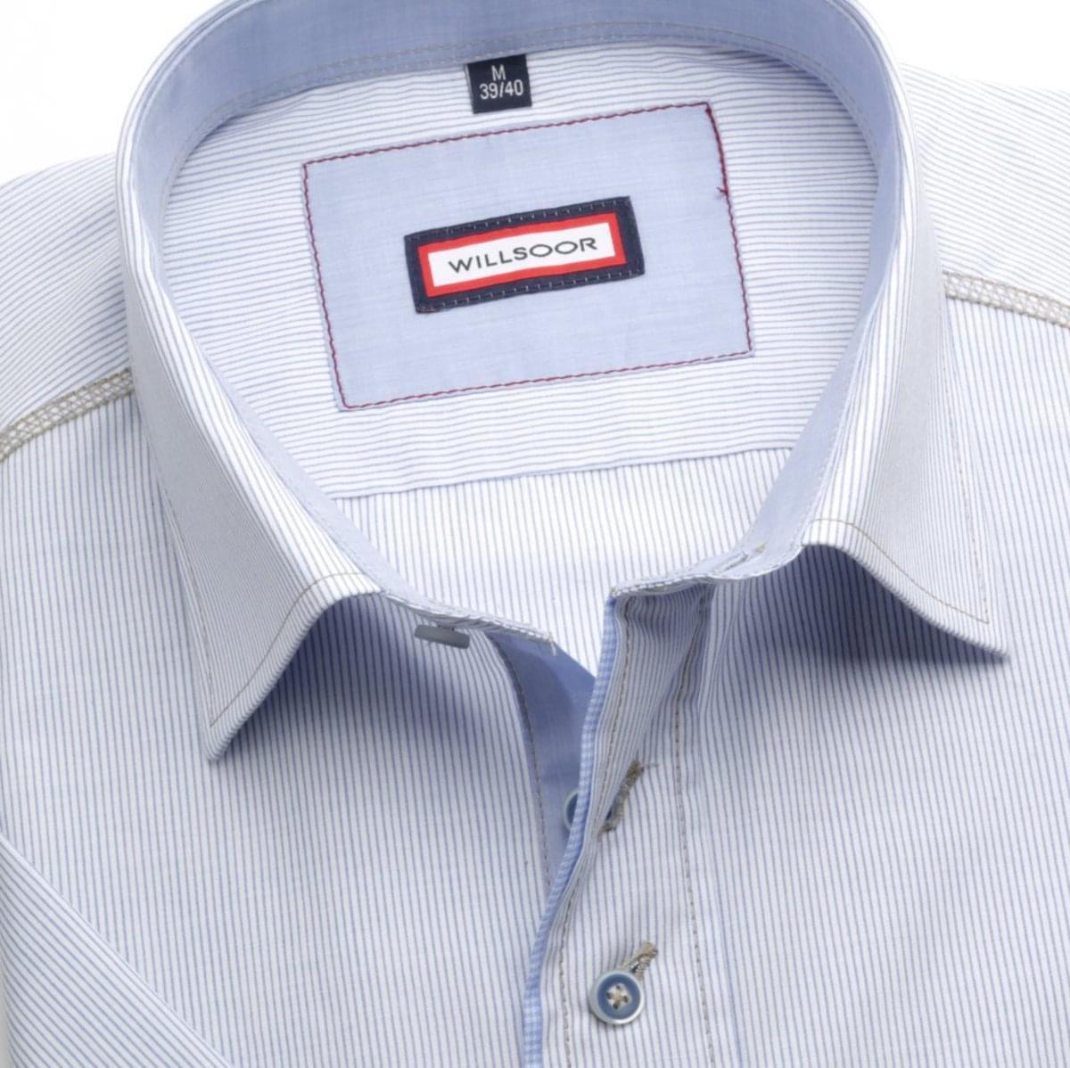 Pánska košele WR Slim Fit s krátkym rukávom a pásikmi (výška 176-182) 4950 176-182 / M (39/40)