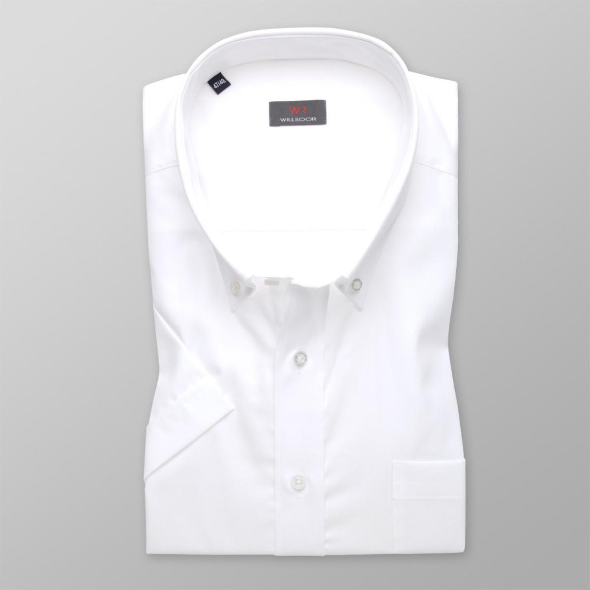 Pánska košele WR Classic s krátkym rukávom v biele farbe (výška 176-182) 5055 176-182 / 47/48