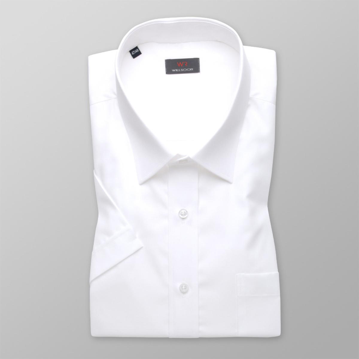Pánska košele s krátkym rukávom v biele farbe WR Classic (výška 176-182) 5113 176-182 / 47/48