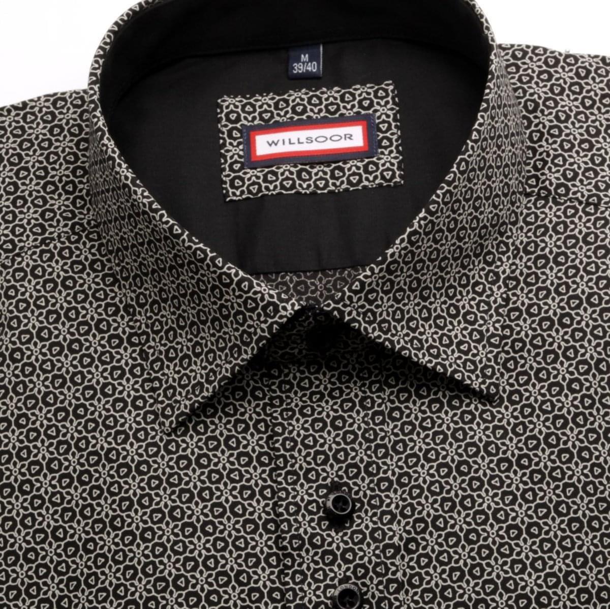 Pánska slim fit košele WR Slim Fit (výška 176-182) 5158 v čierne farbe 176-182 / L (41/42)