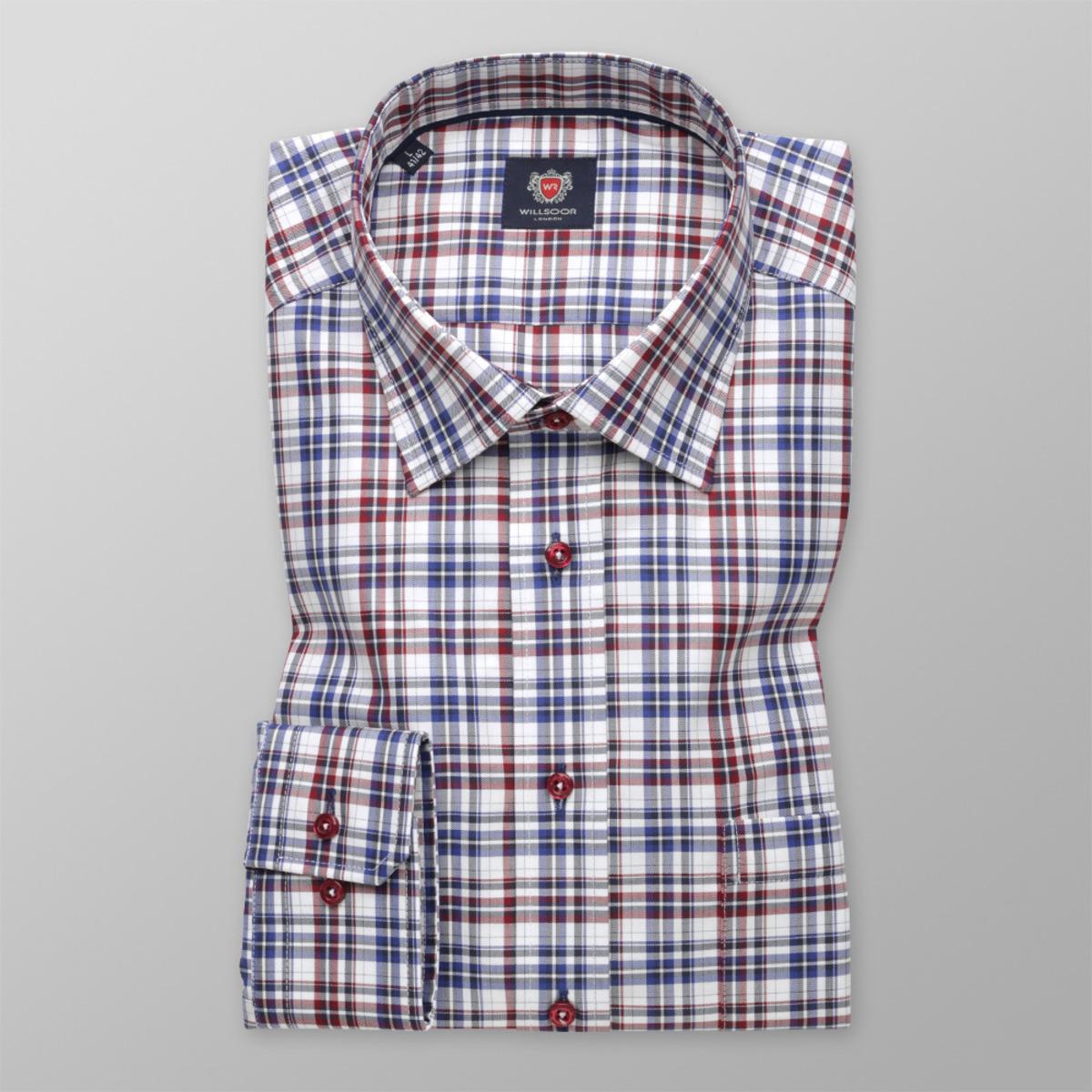 Pánska košeľa London (výška 176 - 182) 9611 Slim Fit kockovaná 176-182 / L (41/42)