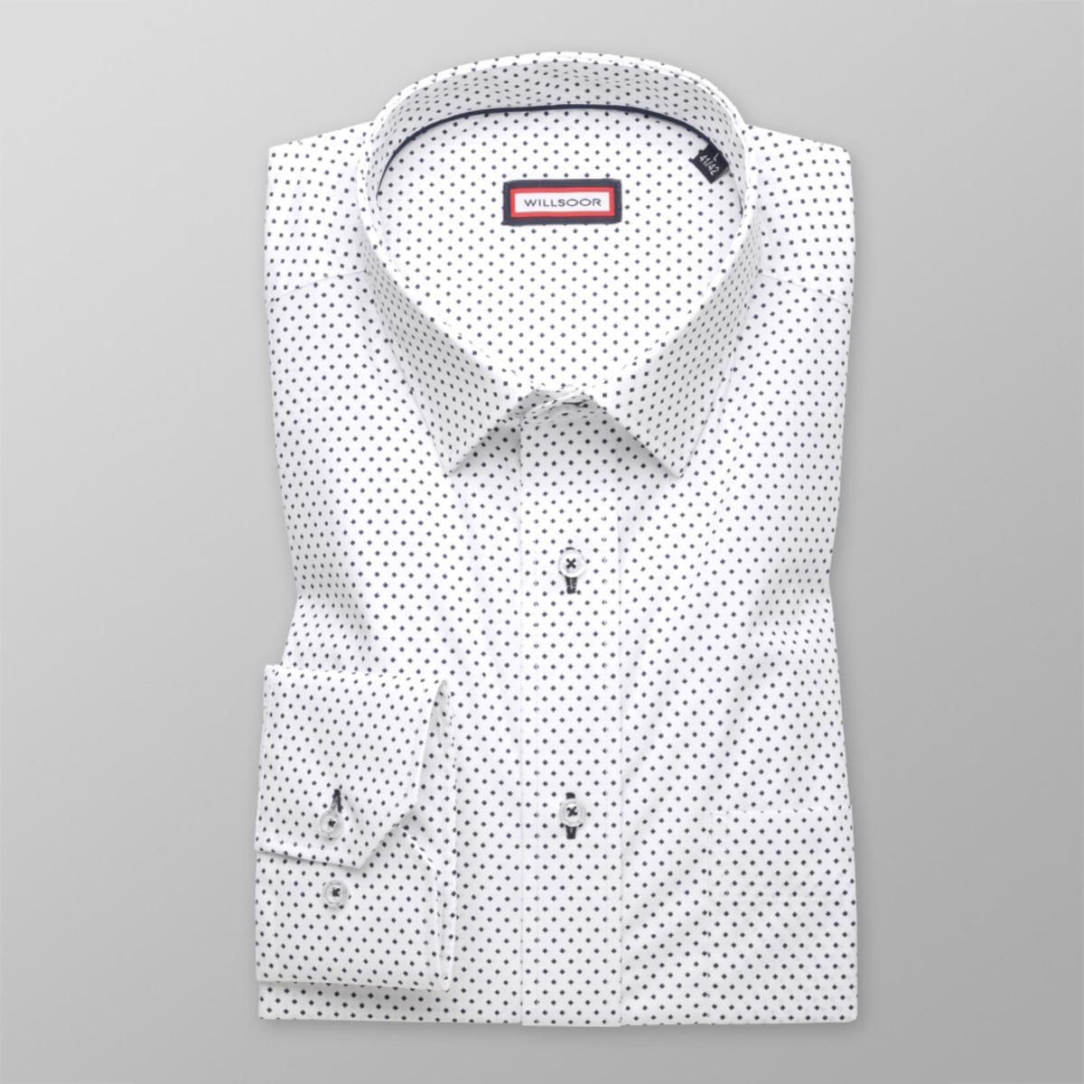 Pánska klasická košeľa (všetky veľkosti) jemne vzorovaná 9644 176-182 / XL (43/44)