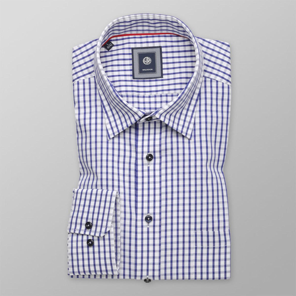 Košeľa Slim Fit kockovaný vzor (výška 176 - 182) 10294 176-182 / XL (43/44)