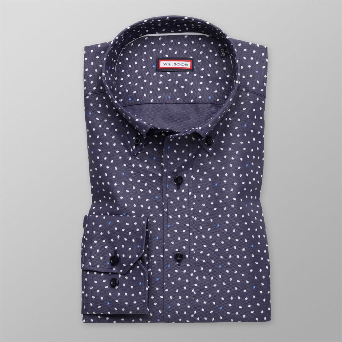 Košeľa Slim Fit s potlačou kvapiek (výška 176 - 182 a 188 - 194) 10459 188-194 / XL (43/44)