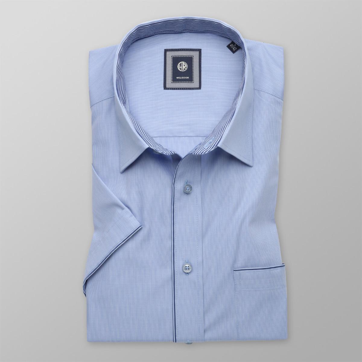 Košeľa klasická svetlo modrej farby (výška 176 - 182) 10511 176-182 / XXL (45/46)