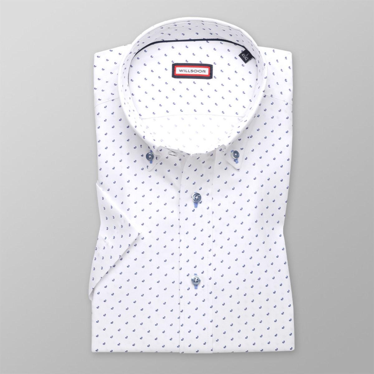 Košeľa Slim Fit so vzorom kvapiek (výška 176 - 182) 10587 176-182 / L (41/42)
