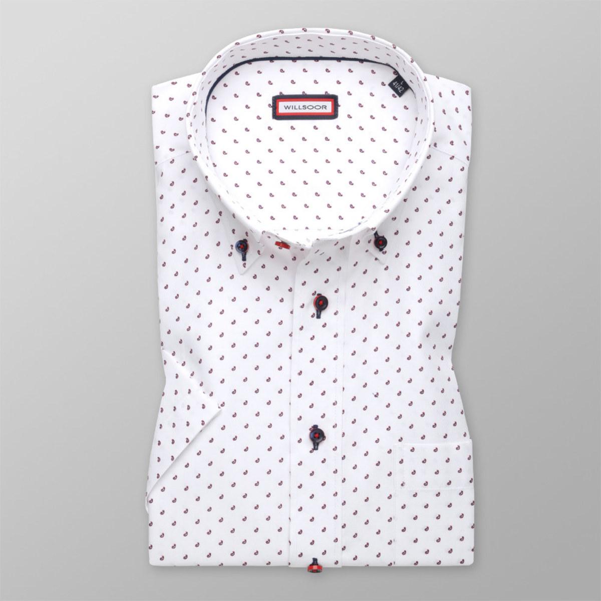 Košeľa klasická s potlačou kvapiek (výška 176 - 182) 10590 176-182 / XL (43/44)
