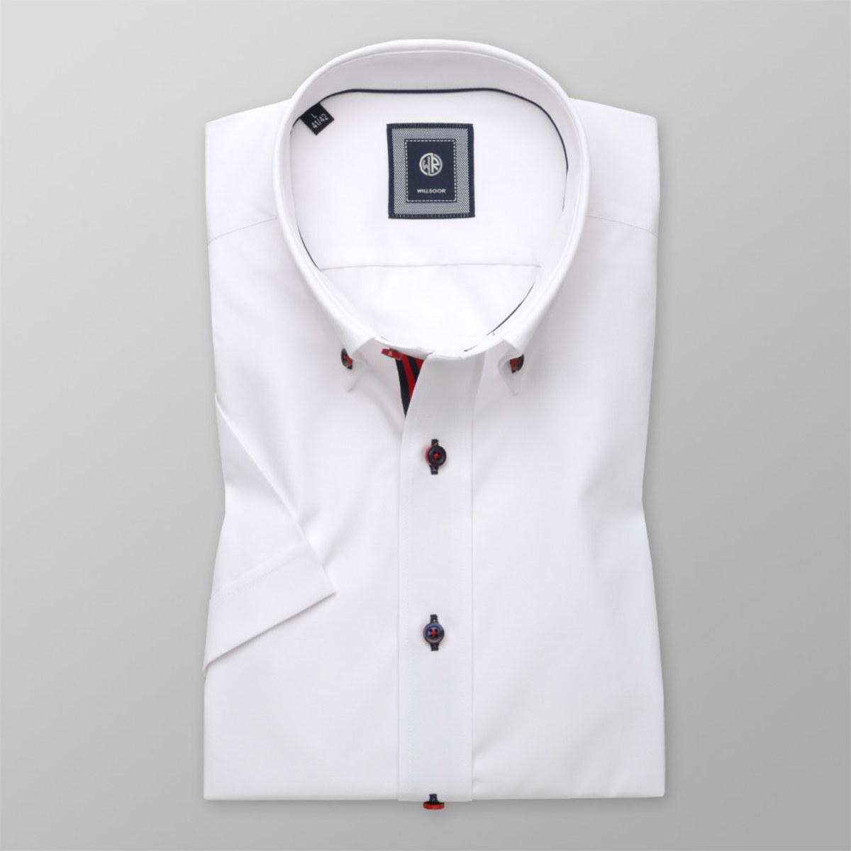 Košeľa Slim Fit bielej farby (výška 176 - 182) 10757 176-182 / XL (43/44)