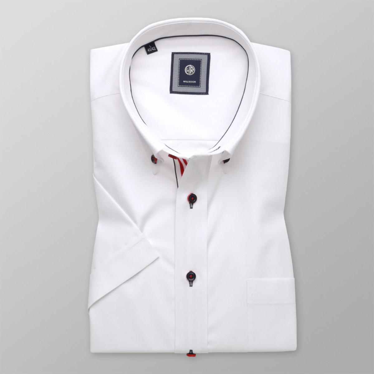 Košeľa klasická biela s hladkým vzorom (výška 176 - 182) 10760 176-182 / L (41/42)