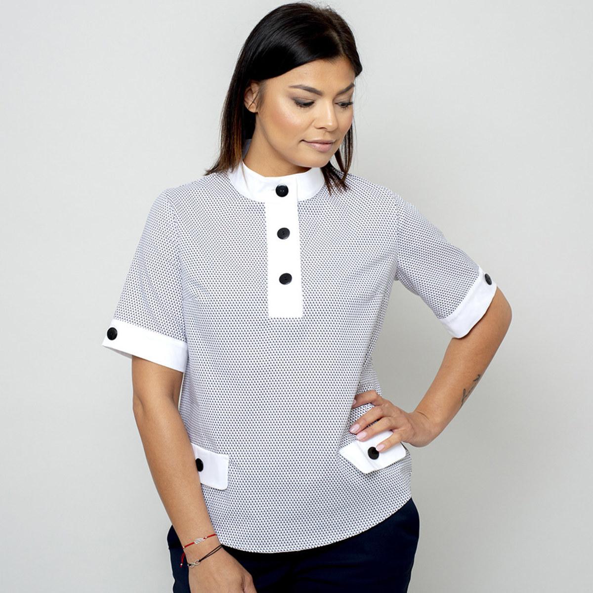 Dámske tričko s bielymi prvkami 10828 Veľkosť 46