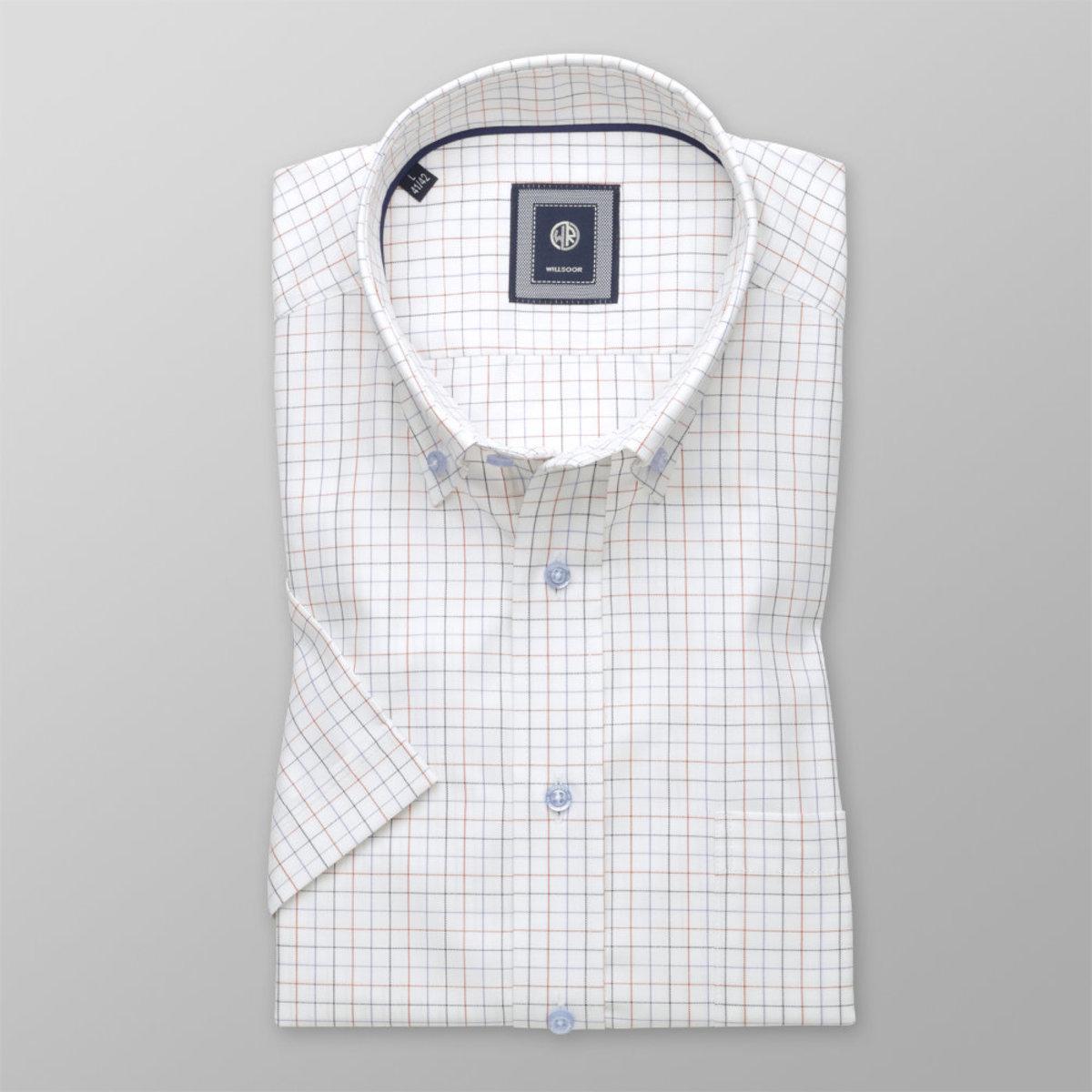 Košeľa Slim Fit s jemným károvaným vzorom (výška 176 - 182) 10832 176-182 / XL (43/44)