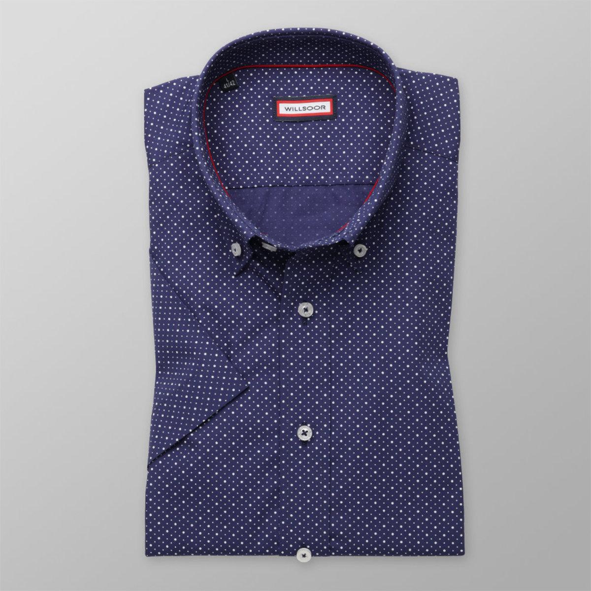 Košeľa Slim Fit s bodkovaným vzorom (výška 176 - 182) 10858 176-182 / L (41/42)