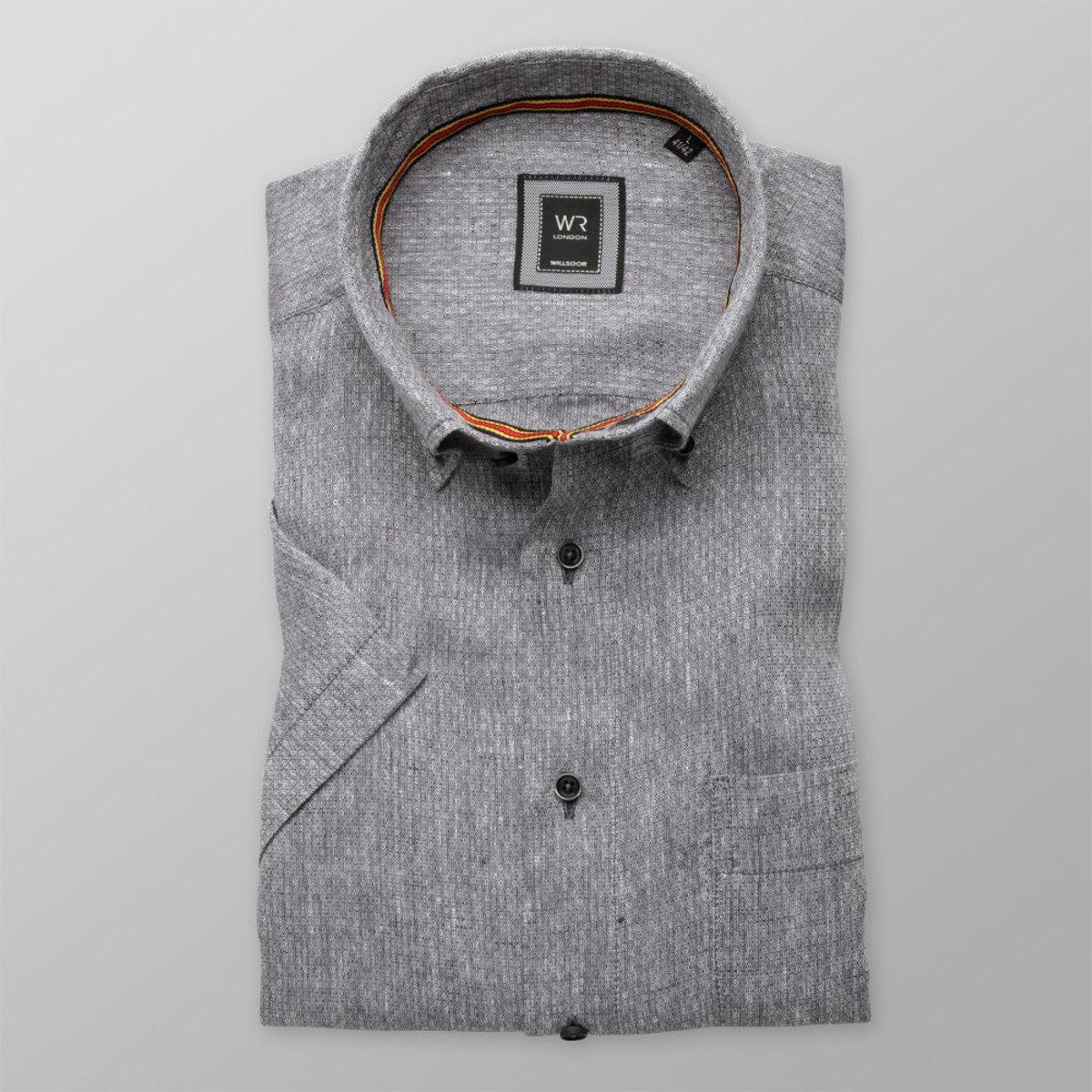 Košeľa London sivá s jemným vzorom (výška 176 - 182) 10871 176-182 / L (41/42)
