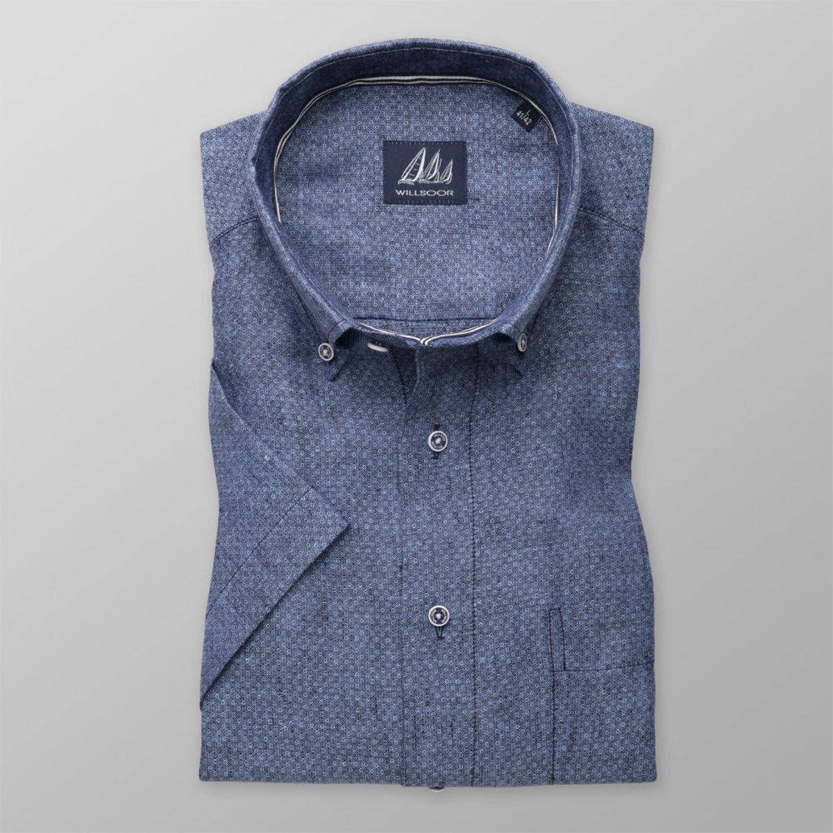 Košeľa London modrá s jemným vzorom (výška 176 - 182) 10873 176-182 / XXL (45/46)