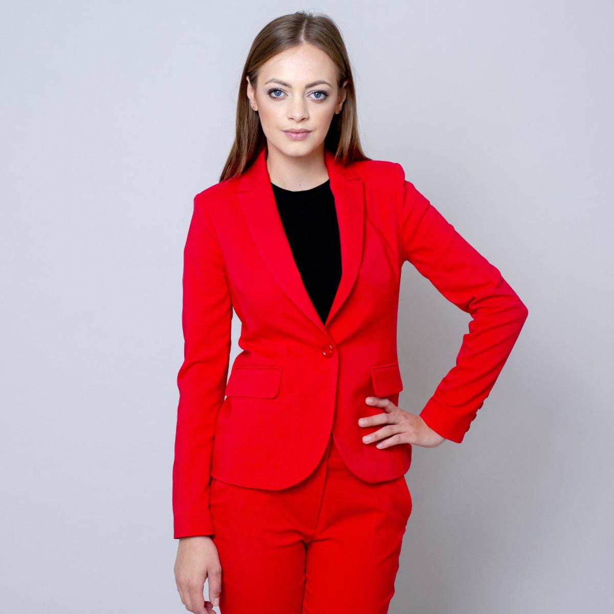 Dámske sako červenej farby 10952 38