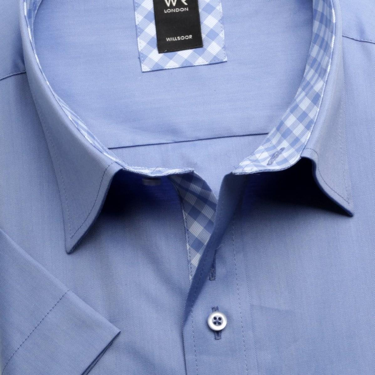 Pánska košele WR London s krátkym rukávom v modré farbe (výška 176-182) 5127 176-182 / 49/50