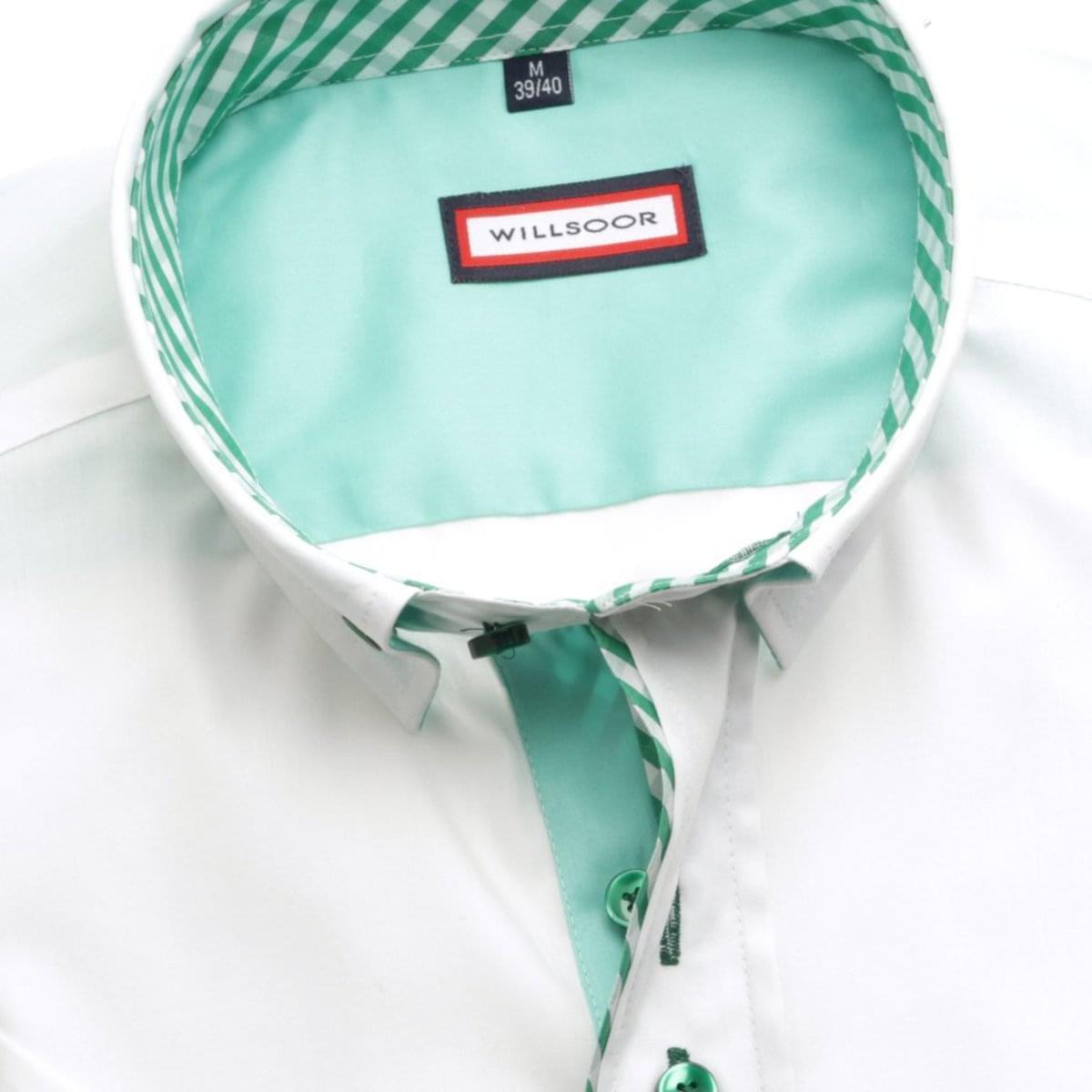 Pánska košele WR Classic v biele farbe (výška 176-182) 5134 176-182 / XL (43/44)