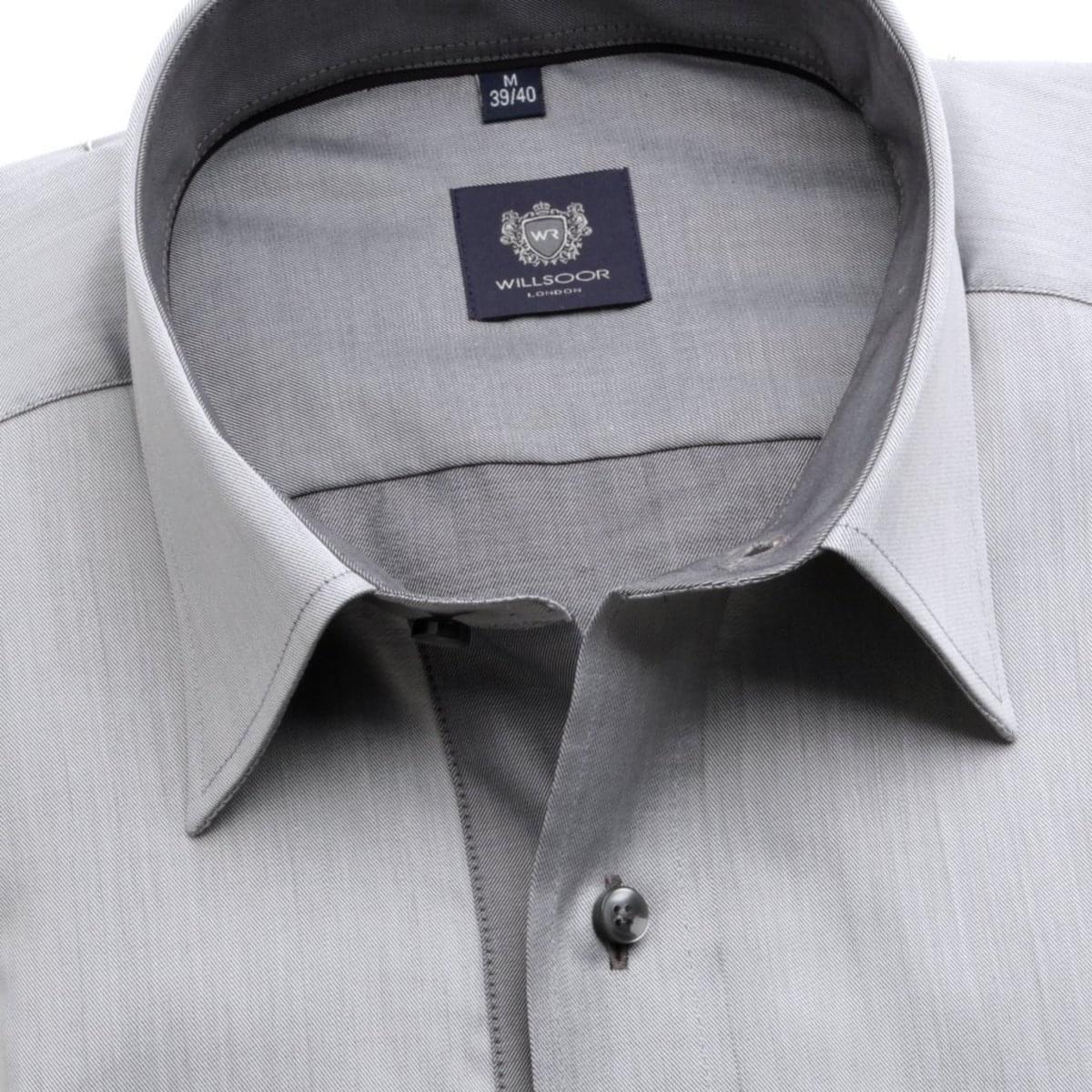 Pánska klasická košeľa London (výška 176-182) 6300 v šedé farbe s formulou Easy Care 176-182 / XL (43/44)