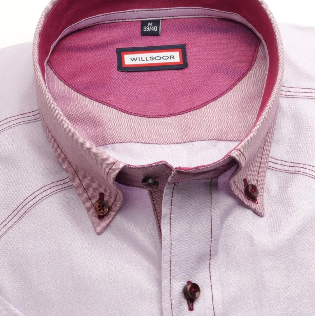 Pánska klasická košeľa (výška 176-182) 6579 vo fialkovej farbe 176-182 / L (41/42)