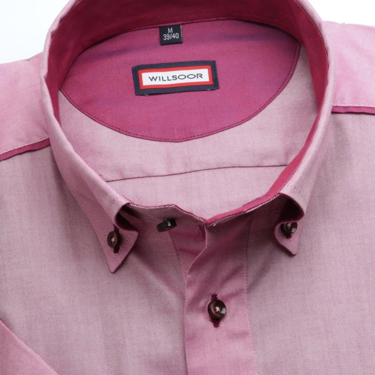 Pánska klasická košeľa (výška 176-182) 6630 vo fialkovej farbe s krátkym rukávom 176-182 / L (41/42)