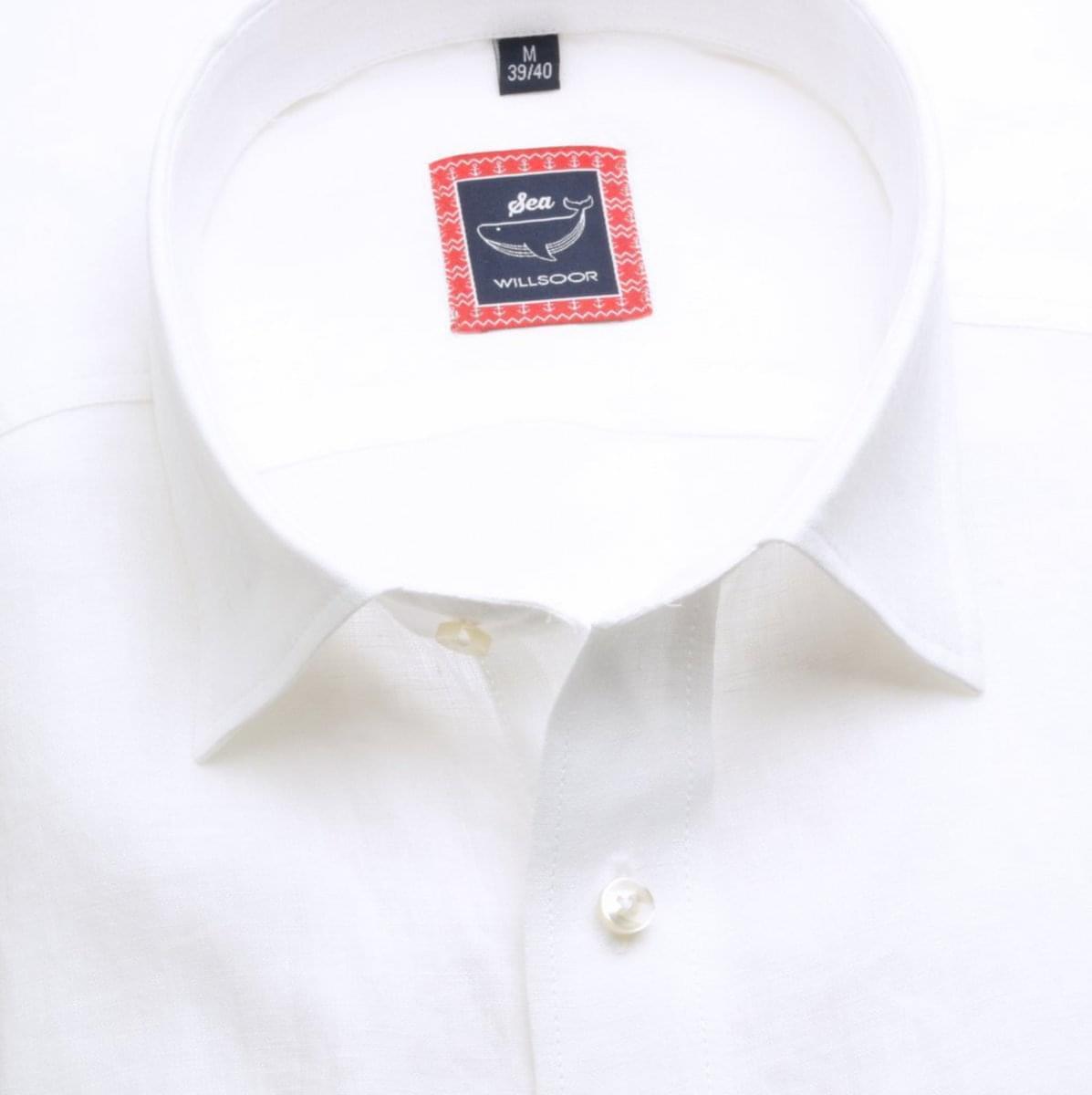 Pánska klasická košeľa (výška 176-182) 6670 v biele farbe 176-182 / L (41/42)