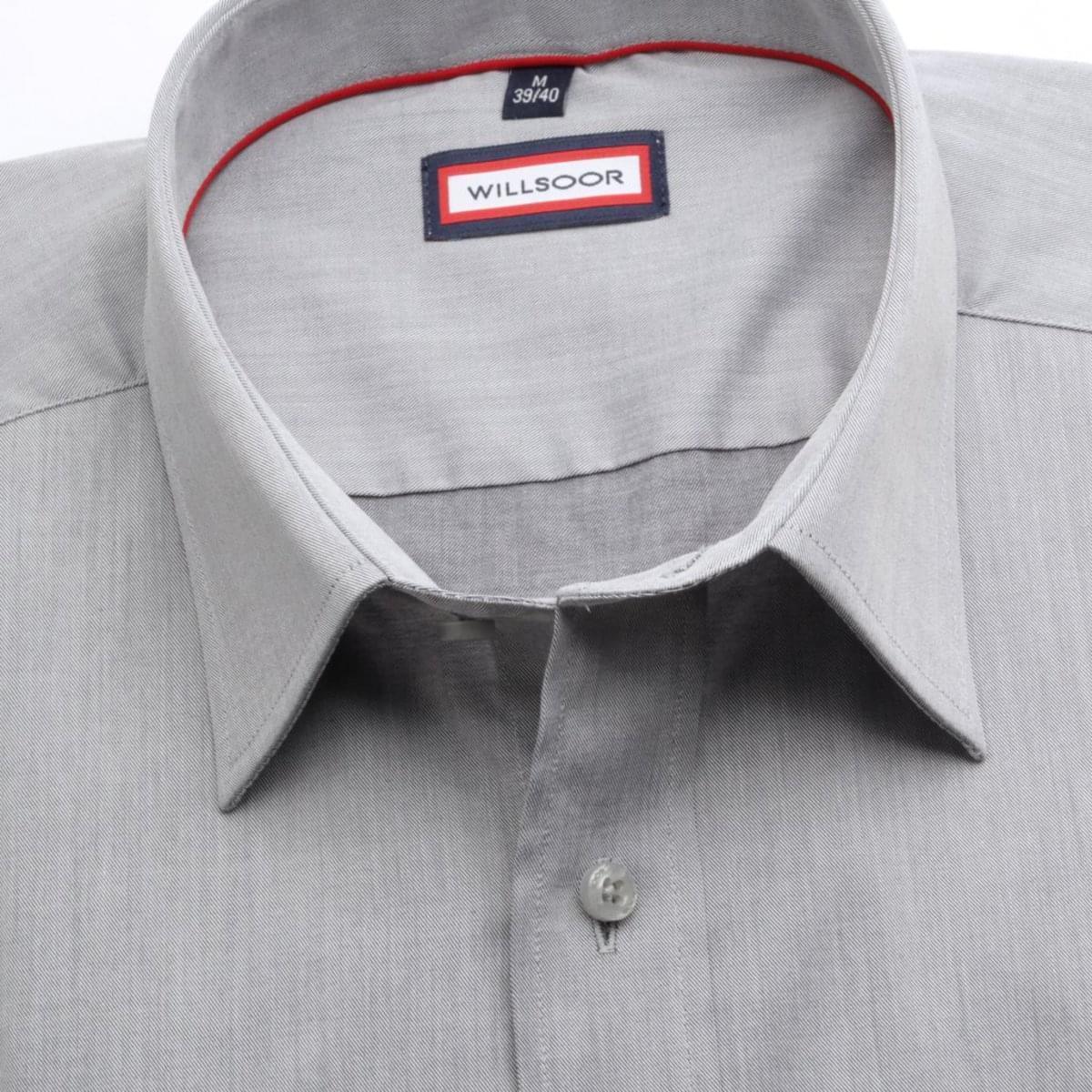 Pánska klasická košeľa (výška 176-182) 6678 vo svetlo šedé farbe 176-182 / XL (43/44)