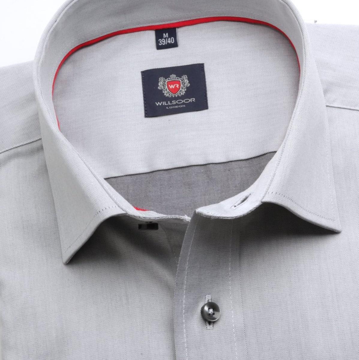 Pánska klasická košeľa London (výška 176-182) 6754 v šedé farbe s formulou Easy Care 176-182 / XL (43/44)
