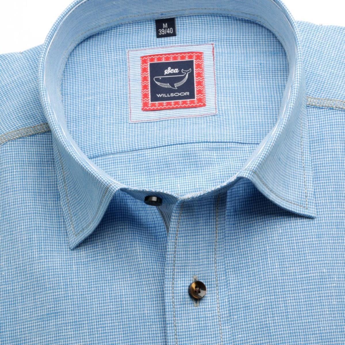 Pánska klasická košeľa (výška 176-182) 6939 v modré farbe s formulou Easy Care 176-182 / XL (43/44)