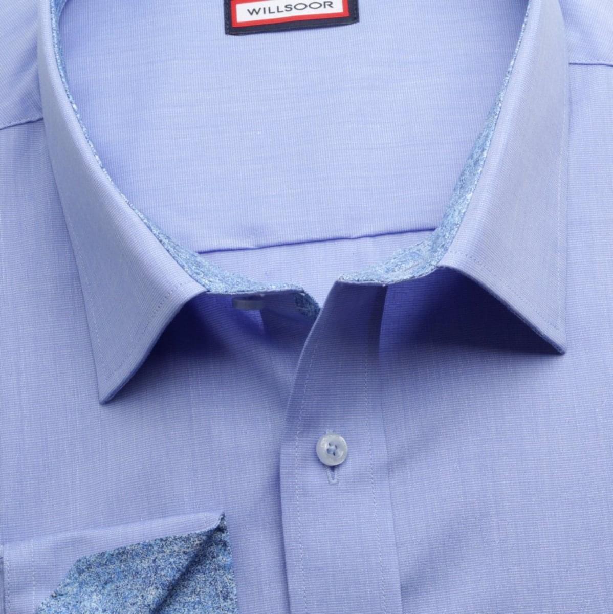 Pánska klasická košeľa (výška 188-194) 6971 v modré farbe s formulou Easy Care 188-194 / 47/48