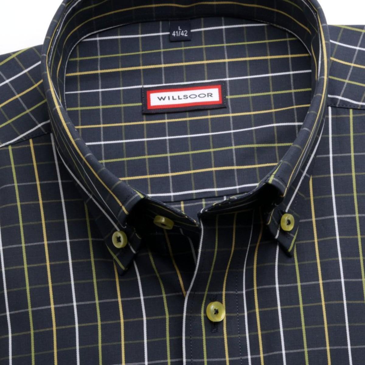 Pánska klasická košeľa (výška 176-182) 7363 v modré farbe 176-182 / XL (43/44)