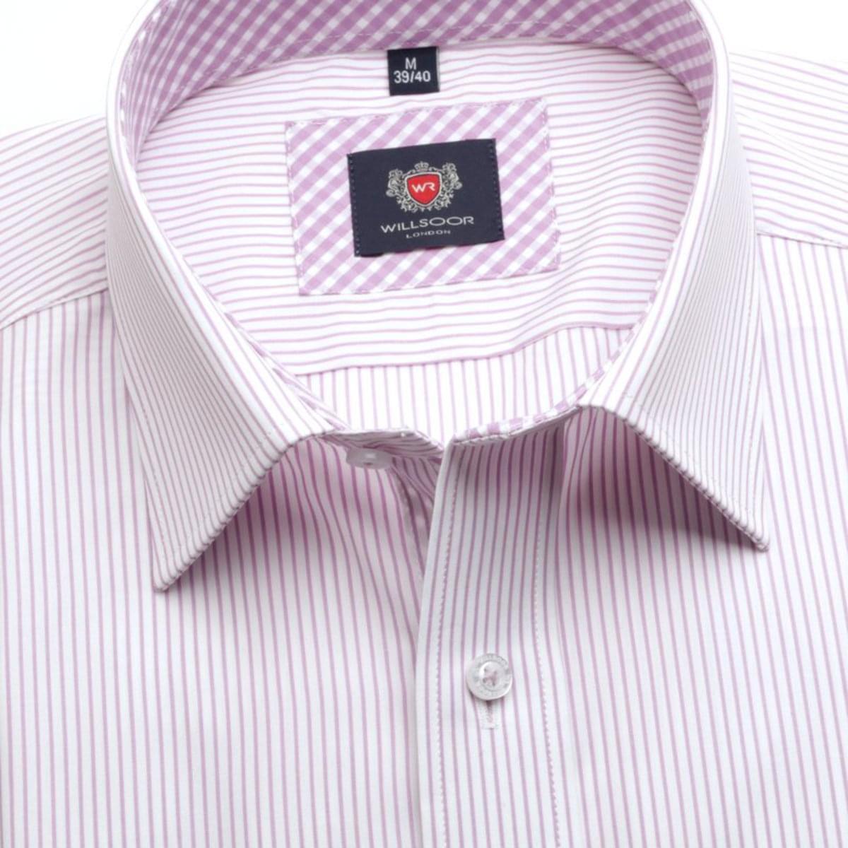 83114e5118e0 Pánska slim fit košeľa London (výška 176-182) 7406 v biele farbe s