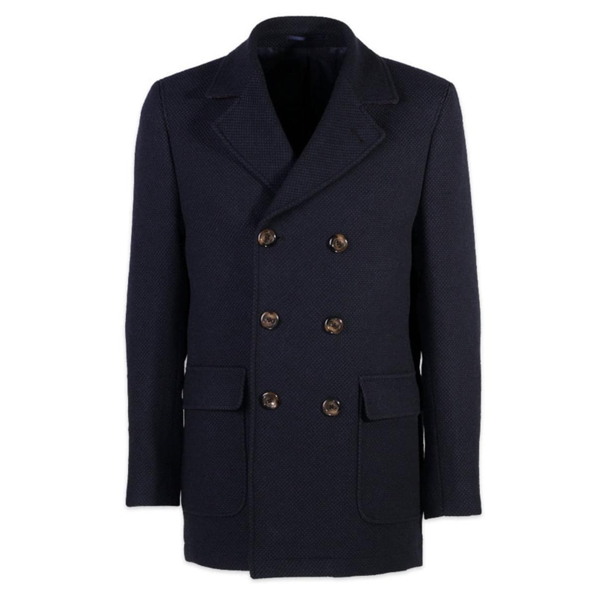 Pánsky kabát Willsoor (výška 176-182 i 188-194) 7435 vo tmavo modré farbe 52 / 188-194 (Veľkosť L)