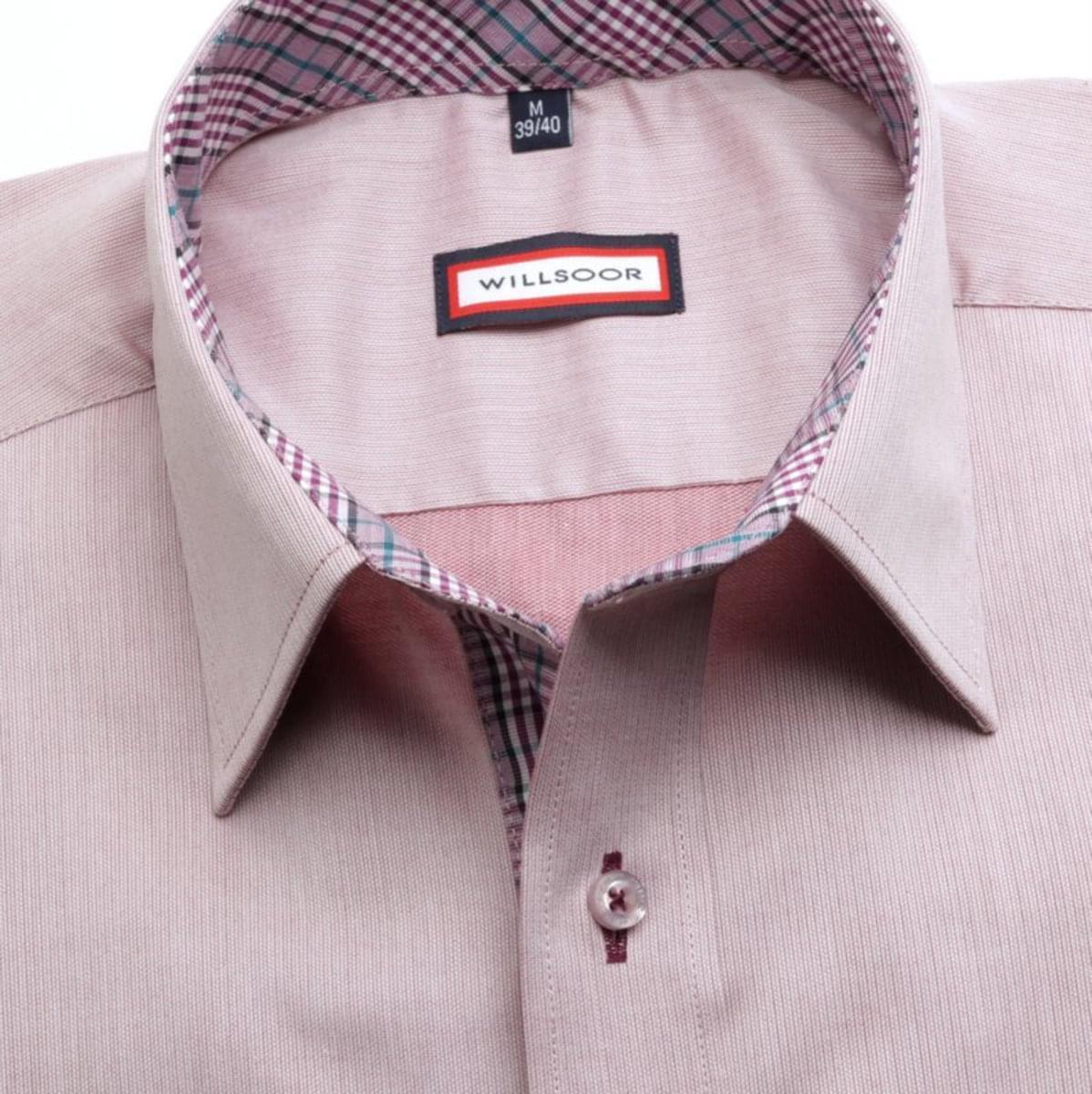 Pánska klasická košeľa (výška 176-182) 7449 vo fialkovej farbe 176-182 / L (41/42)