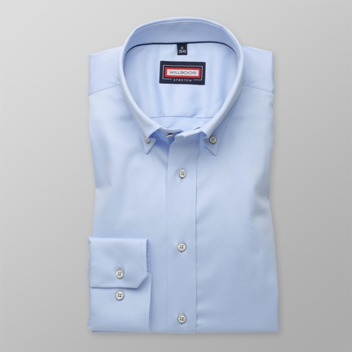 Pánska slim fit košele (všetky výšky) 7798 vo svetlo modré farbe s úpravou easy starostlivosť 164-170 / XL (43/44)