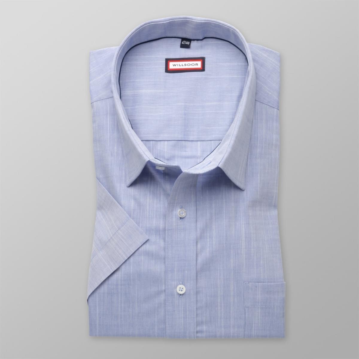 Pánska klasická košeľa s krátkym rukávom (výška 176-182) 8125 v modré farbe 176-182 / 51/52