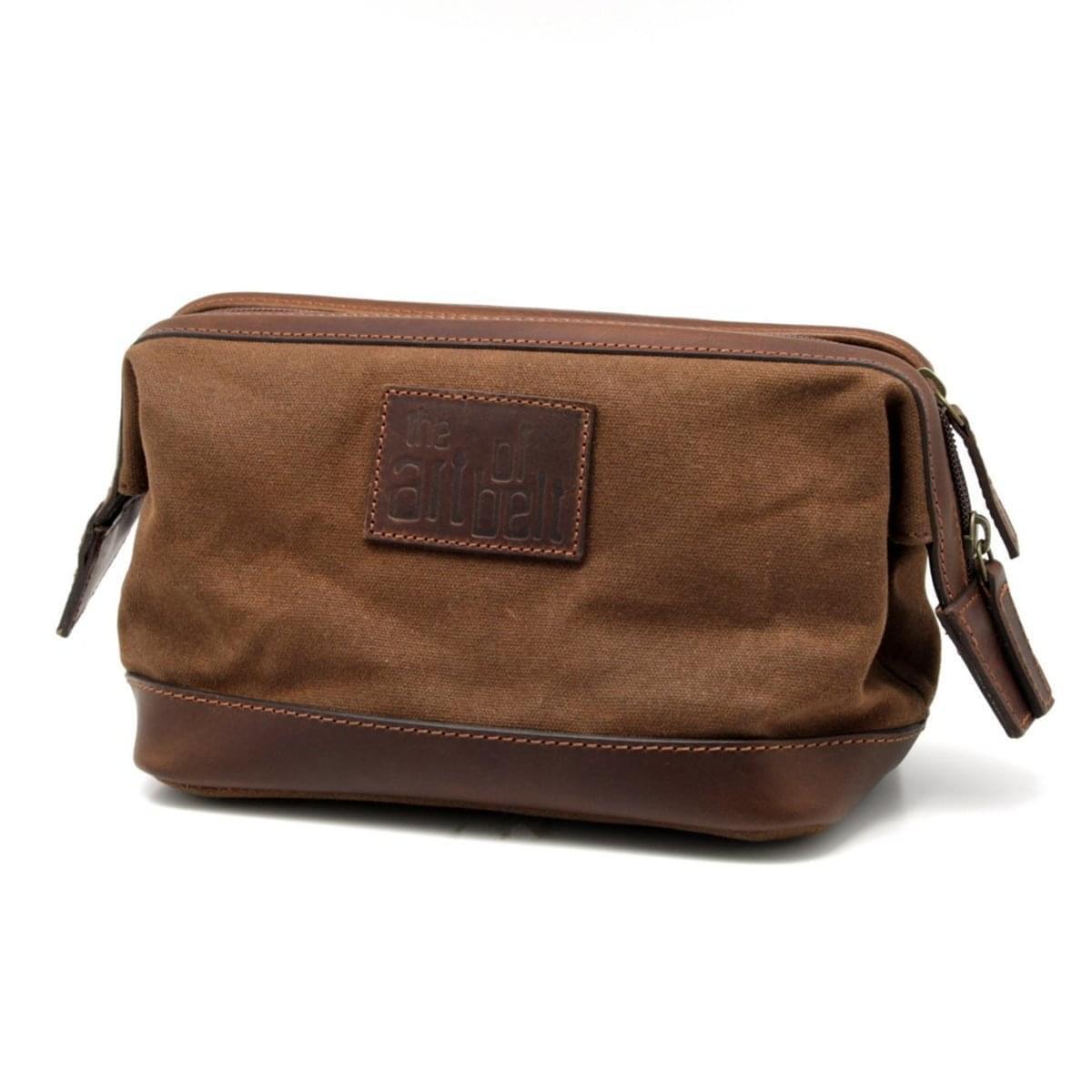 Panská kožená kozmetická taška 8208