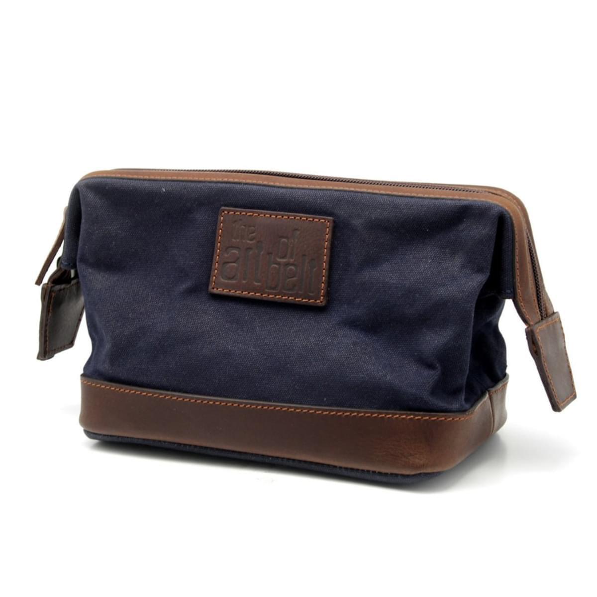 Pánska kožená kozmetická taška 8209