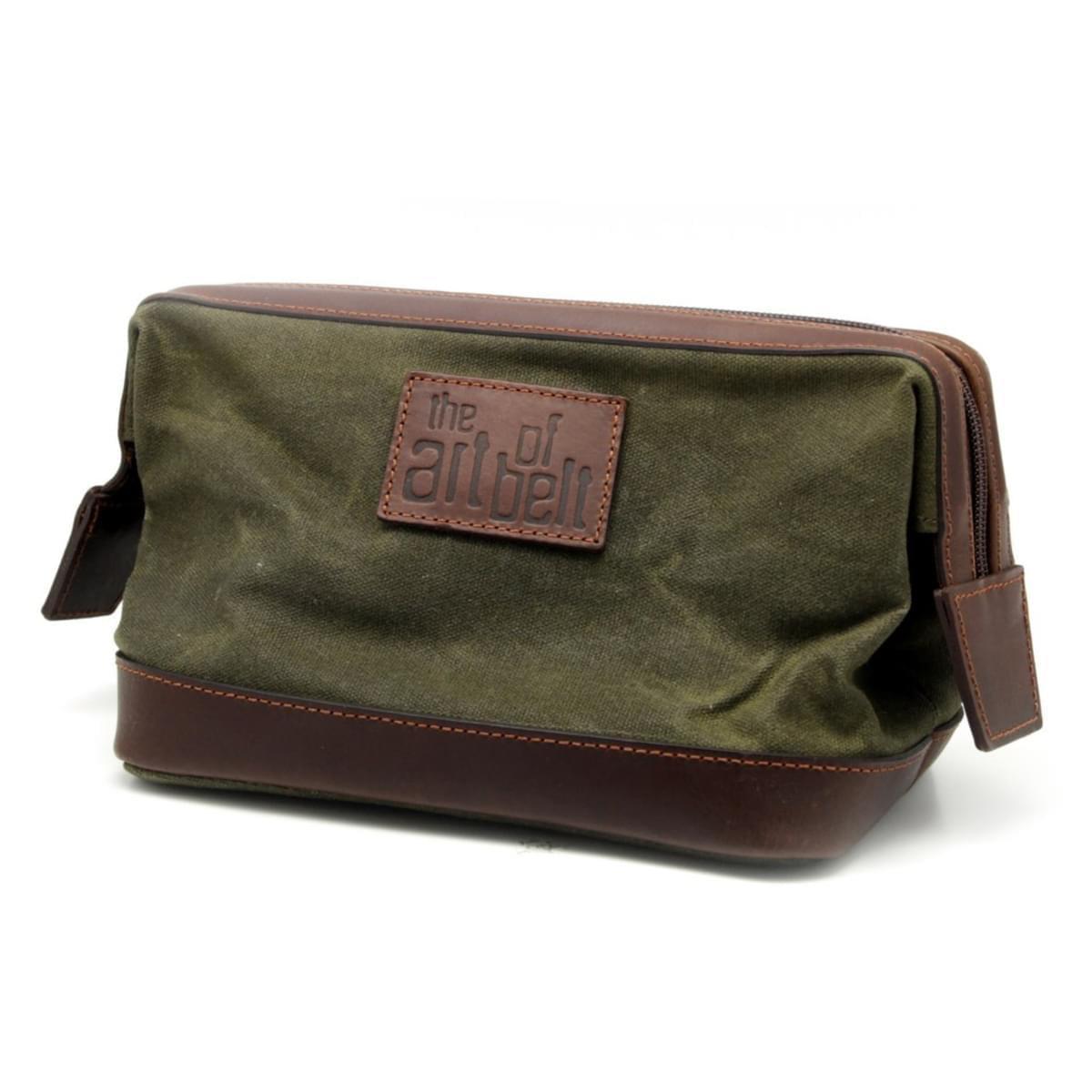 Pánska kožená kozmetická taška 8210