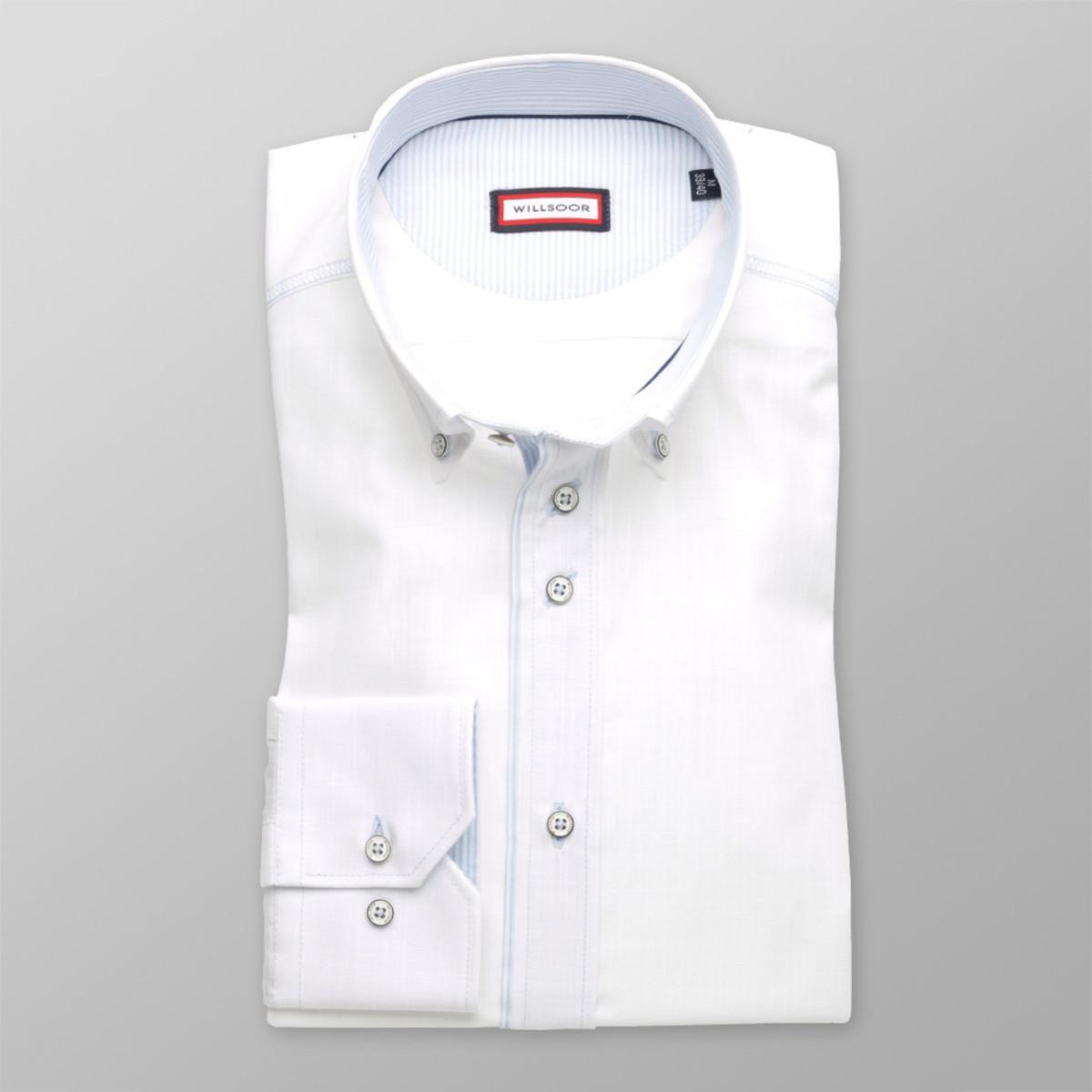 Pánska klasická košeľa (výška 176-182) 8240 v biele farbe 176-182 / L (41/42)