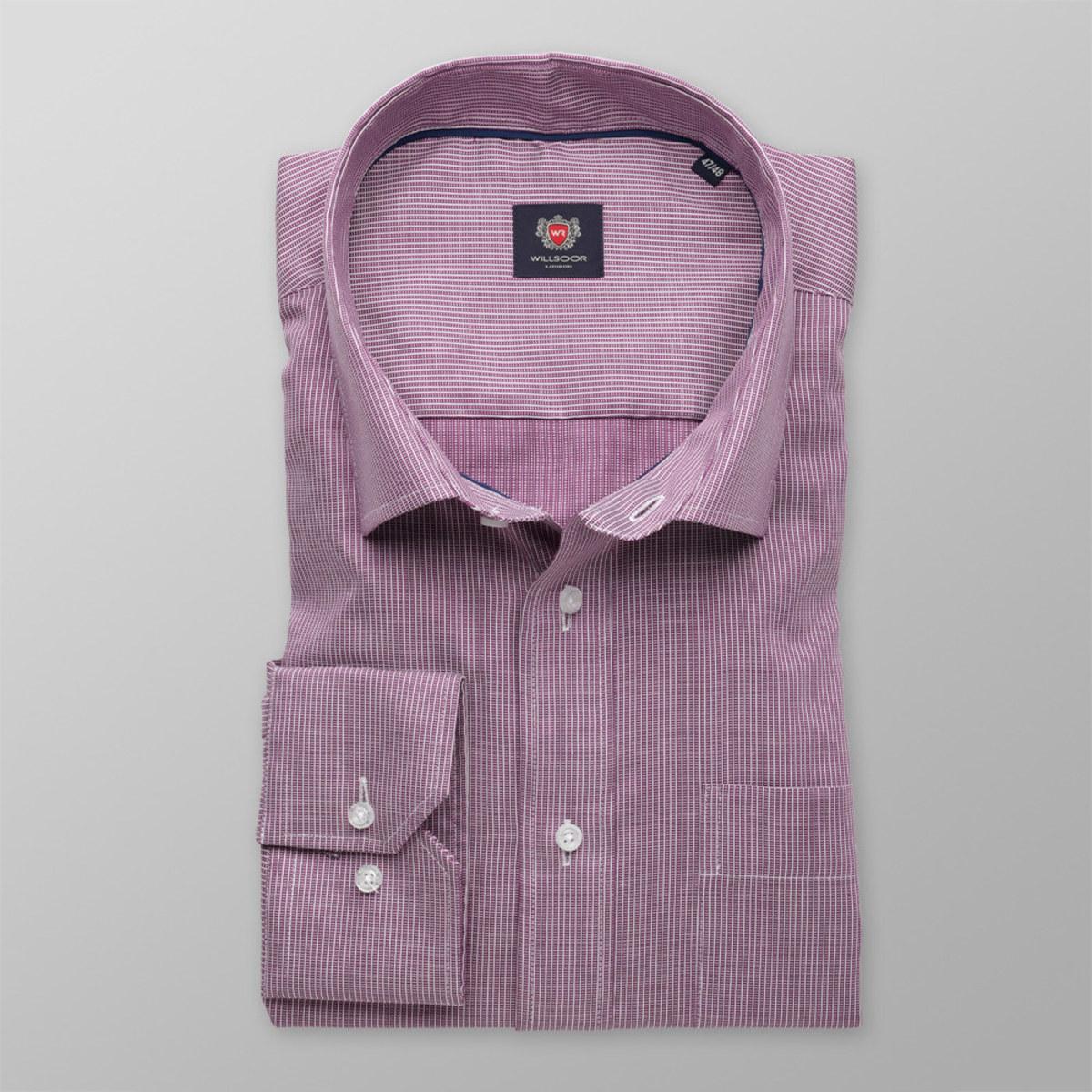 Pánska klasická košeľa London (výška 188-194) 8279 vo fialové farbe s pásikmi 188-194 / 47/48